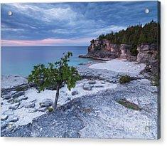 Georgian Bay Cliffs At Sunset Acrylic Print by Oleksiy Maksymenko