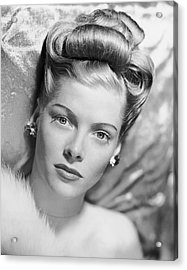 Portrait Of Woman Acrylic Print by George Marks