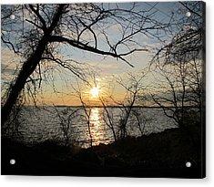 Sunset Chesapeake Bay Acrylic Print by Valia Bradshaw