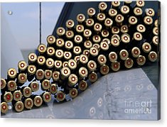 7.62 Mm Rounds Ready To Be Loaded Acrylic Print