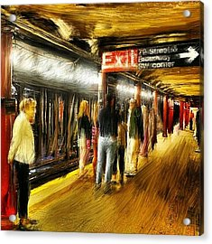 #79 #street #subway #nyc #manhattan Acrylic Print