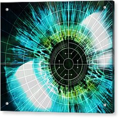 Biometric Eye Scan Acrylic Print by Pasieka
