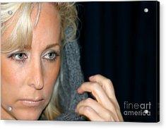 Blond Woman Acrylic Print by Henrik Lehnerer