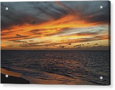 North Shore Sunset Acrylic Print by Vince Cavataio