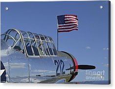 A Bt-13 Valiant Trainer Aircraft Acrylic Print by Stocktrek Images