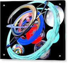 Abstract Shape Acrylic Print by Bogdan Floridana Oana