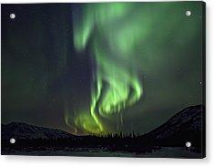 Aurora Borealis Or Northern Lights Acrylic Print by Robert Postma