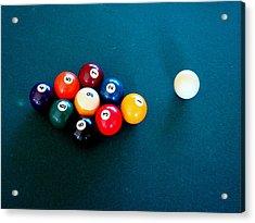 9 Ball Acrylic Print by Nick Kloepping