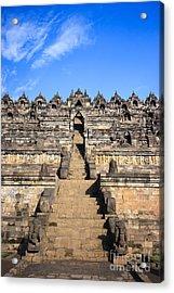 Borobudur Acrylic Print by MotHaiBaPhoto Prints