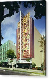 Movie Theaters, The Paramount Theatre Acrylic Print by Everett