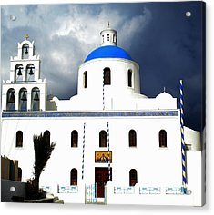 Acrylic Print featuring the photograph Santorini Greece by Colette V Hera  Guggenheim