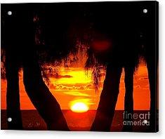 Sunset Acrylic Print by Sylvie Leandre