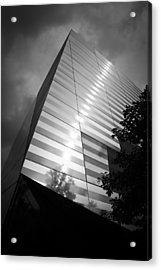 911 Memorial Museum Bw Acrylic Print by Teresa Mucha