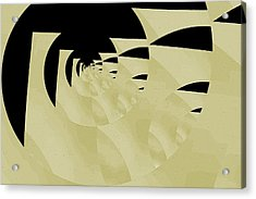 Decoupage Acrylic Print by Mihaela Stancu