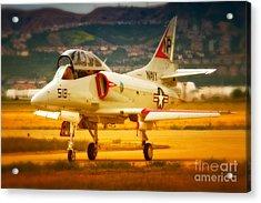 A-4 Skyhawk Up For A Hunt Acrylic Print by Gus McCrea