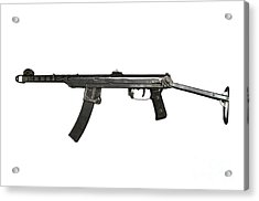 A 7.62mm Type 54 Machine Gun, A Variant Acrylic Print
