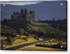 A Ancient Romanesque Castle Sits Atop Acrylic Print by Cotton Coulson