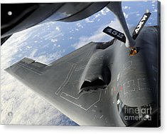 A B-2 Spirit Receives Fuel Acrylic Print by Stocktrek Images