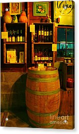 A Barrel And Wine Acrylic Print by Jeff Swan