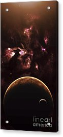 A Barren World Passes In Front Acrylic Print by Kevin Lafin