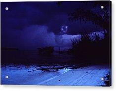 A Beach At Dawn Acrylic Print