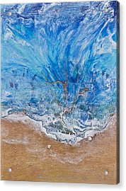 A Beautiful Beach 1 Acrylic Print by Dora Woodrum