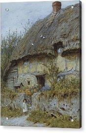 A Berkshire Cottage  Acrylic Print by Helen Allingham
