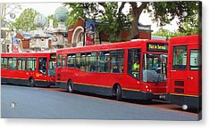 A Bevy Of Buses Acrylic Print by Anna Villarreal Garbis