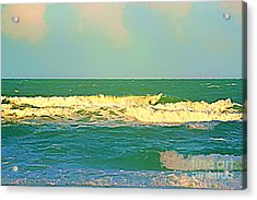 Acrylic Print featuring the photograph A Big Breaker Wave  by Joan McArthur
