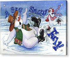 A Big Snow Fall Acrylic Print