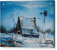 A Blue Winter In Texas Acrylic Print by Robert Ballance