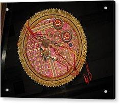 A Bowl Of Rakhis In A Decorated Dish Acrylic Print by Ashish Agarwal