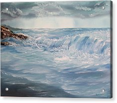 Acrylic Print featuring the painting A Break In Storm by Christie Minalga