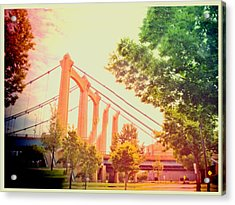 A Bridge In Minneapolis  Acrylic Print