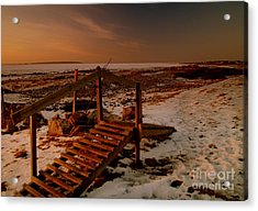 A Bridge To Nowhere Acrylic Print by Michael Canning