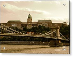 A Bridge To Palace Acrylic Print by Syed Aqueel