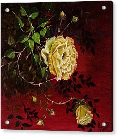 A Bright Hope Yellow Roses Acrylic Print by Praisey Peter