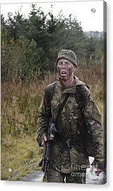 A British Soldier During Exercise Acrylic Print