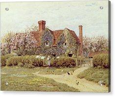 A Buckinghamshire House At Penstreet Acrylic Print by Helen Allingham
