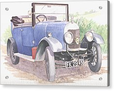 A Bull-nose Morris Acrylic Print by Maureen Carter