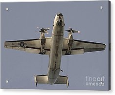 A C-2 Greyhound In Flight Acrylic Print by Stocktrek Images