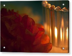 A Candle Glows Acrylic Print