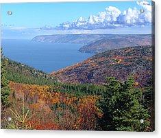 A Cape Breton Autumn Acrylic Print by George Cousins