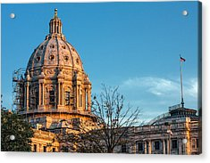 Acrylic Print featuring the photograph A Capitol Evening by Tom Gort