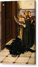 A Carol Acrylic Print by Laura Theresa Alma-Tadema