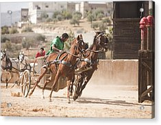 A Chariot Race In The Hippodrome Acrylic Print by Taylor S. Kennedy