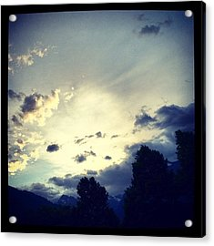 A Cloudy Night Acrylic Print