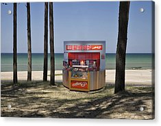 A Coffee Bar And Drinks Kiosk Acrylic Print by Jaak Nilson