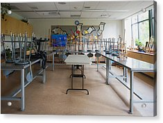 A Community Centre Art Room And Studio Acrylic Print by Marlene Ford