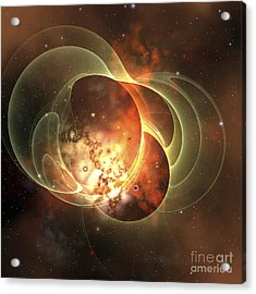 A Constellation Sits Inside Encircling Acrylic Print by Corey Ford